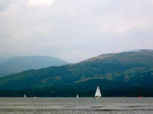 Lake Windermere, the picturesque setting for Charlotte Bronte's meeting with Elizabeth Gaskell.