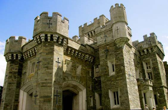 Wray Castle, Lake District, UK. Where Beatrix Potter holidayed.
