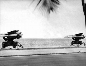 Missiles on Smathers Beach, October 1962. Photography: Don Pinder Image Credit: Florida Keys Public Libraries