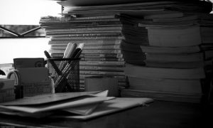 The writer's desk - the humble beginnings of any literary device… Image Credit: Hash Milhan Photography, 2007.