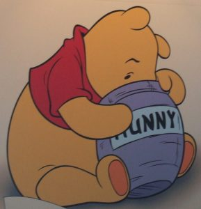 An all-time children's classic, Winne the Pooh... Image Credit: Andrew Poole, Creative Commons.