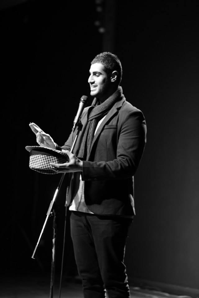 Slam Poet Ahmed Al-rady in action...