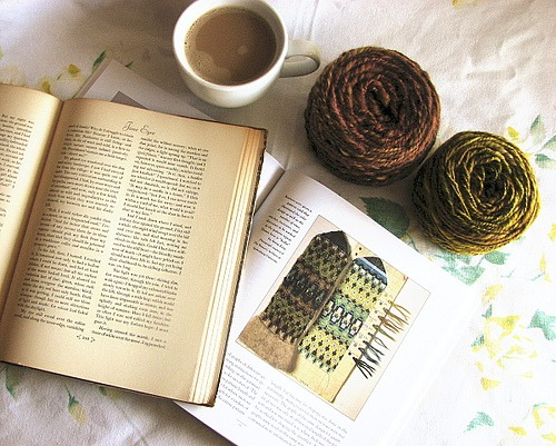 This week's writing prompt focuses on what you can get out of reading. Image Credit: Madeline Tosh via Flickr Creative Commons.