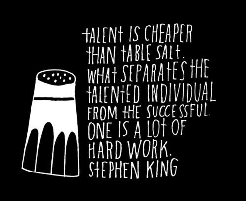 Stephen King on talent