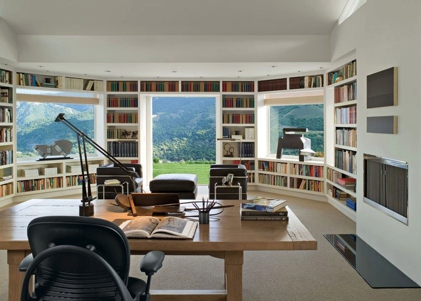 in-built-library-walled-workspace-with-mountain-views