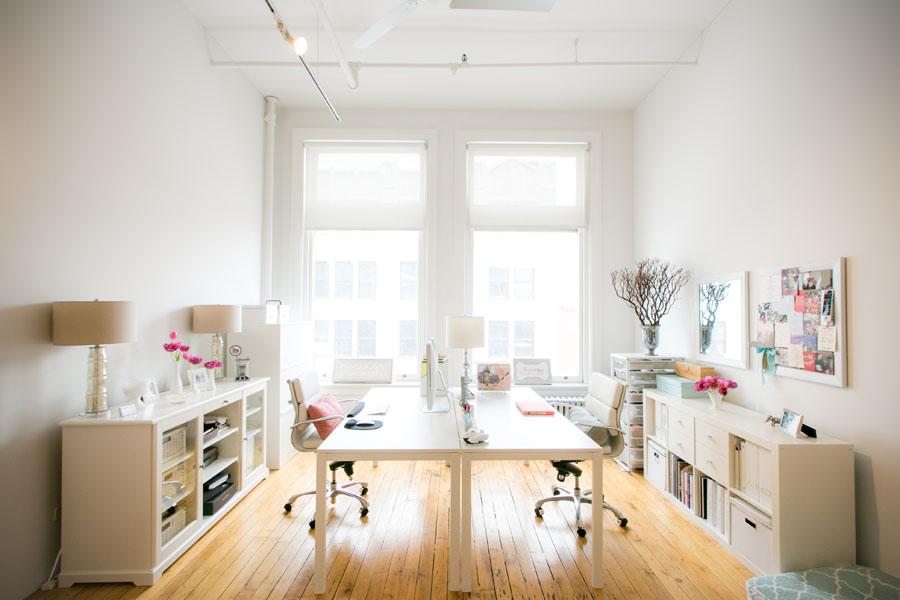 white bright office