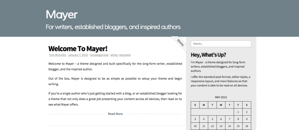 mayer-wordpress-theme-writer