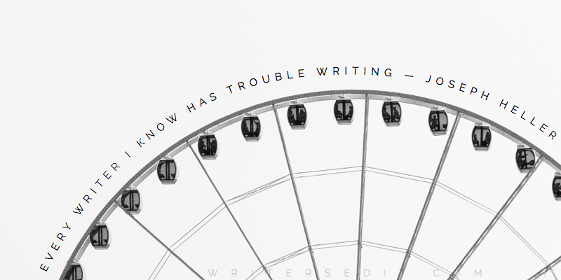 Joseph Heller Quote Writing Troubles