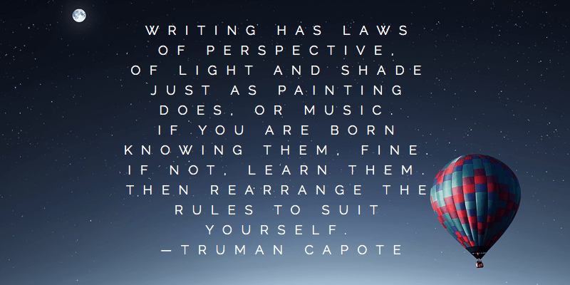 Truman Capote Quote Writing Rules