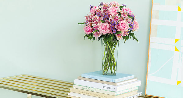 Flowers-on-a-stack-of-books